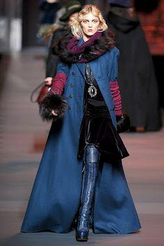 Dior Blue Coat. Visit www.lifeandstyleonadime.com for Fall trends. Image stilletto bootlover_83