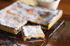 Almond and jam polenta shortcake    Taste