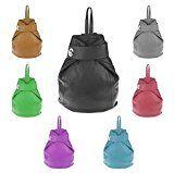 OBC Made in Italy Damen echt Leder Rucksack Daypack Lederrucksack Tasche Schultertasche Ledertasche Handgepäck Nappaleder: Lässig und…