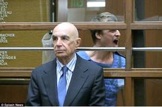 Loud and proud:Conrad Hilton appeared in court on Wednesday after refusing to leave his jail cell on Tuesday (above yelling at a photographer as lawyer Robert Shapiro stands in the foreground)