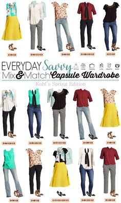 Fun Spring Target Capsule Wardrobe updated for 2016. Casual and cute mix and match outfits that are fun and frugal.