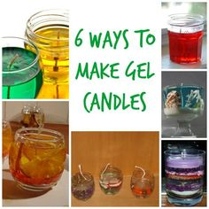 6 Ways To Make Gel Candles Candles can be made from several different mediums, and a basic gel wax is one of those mediums that has become very popular over the years. If you have never used a gel wax, then you should take … Candle Containers, Candle Jars, Candle Maker, Soy Candle, Candle Labels, Candle Holders, Ikebana, Candle Making For Beginners, Gel Candles