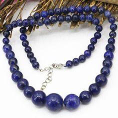 9 types tour chaîne collier pierre naturelle 6-14mm Picasso tigre yeux grès mookaite perles rondes choker bijoux 18 pouces B613