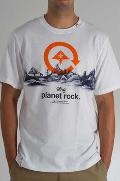 LRG Planet Rock Tee in White-$28.00