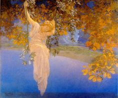 "Mothic Flights And Flutterings, ""Reveries"" by Maxfield Parrish - 1913"