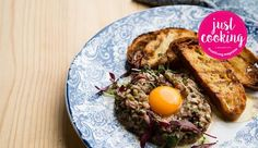 As cooked by Justine Drake on Just Cooking Season Steak Tartare, Recipe Search, Just Cooking, Season 1, Drake, Baking Recipes, Delicious Desserts, Dinner, Breakfast