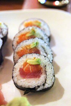 Salmon, tuna, white fish & avocado #sushi #Austin