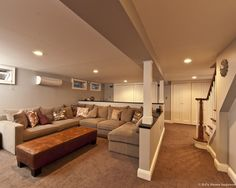 Like the colors for the basement, also like the square covers over beams and overhead Basement Basement Storage Design, Pictures, Remodel, Decor and Ideas - page 12 | fabuloushomeblog.comfabuloushomeblog.com