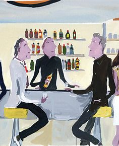 at the bar by Jean Philippe Delhomme