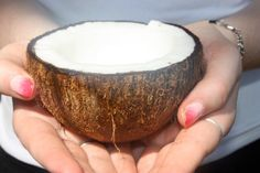 Fresh coconut snack Travel To Fiji, Serving Bowls, Coconut, Snacks, Fresh, Appetizers, Mixing Bowls, Treats, Bowls