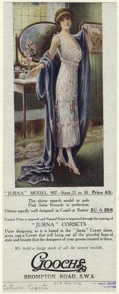 1918 Edwardian Corset Ad   - from digitalgallery.nypl.org