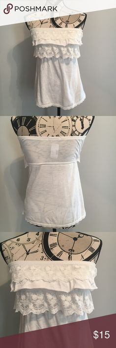 NWT Maurices White Tube Top Size Small NWT Maurices White Tube Top Size Small Maurices Tops