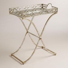 One of my favorite discoveries at WorldMarket.com: Silver and Gold Soiree Butler Tray Metal