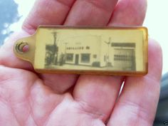 Vintage R & L Phillips 66 Service Station Sibley Illinois Plastic Key Holder IL