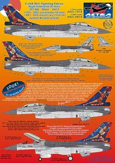 MLU Fighting Falcon Royal Netherlands Air Force 323 Sqn Dirty Diana Part 2 F 16, Riga, War Machine, Air Force, Fighter Jets, Decals, Cutaway, Planes, Netherlands