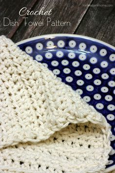 Free Crochet Dish Towel Pattern. This pattern is simple and easy to read. A great addition to your Kitchen towel collection