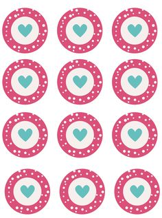 free printable toppers. Imprimibles para San Valentín…