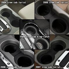 Cup Holder Insert 2pcs Fit 2004-2008 F150(Flow Through Console) – Winunite Cup Holder Insert, King Ranch, Console, Flow, Consoles