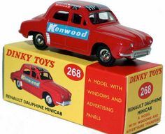 #diecast #Dinky Atlas 268 Renault Dauphine Minicab new or updated at www.diecastplus.info