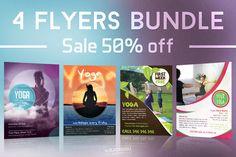 @newkoko2020 Yoga Flyers Bundle by Krukowski Graphics on @creativemarket #bundle #set #discout #quality #bulk #buy #design #trend