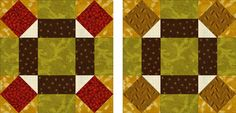 Use my quilt block pattern to make your own version of the Broken Wheel quilt block