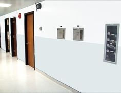 Hospital Wall Panels Made with King MediGrade®, The Antimicrobial Polymer Building Sheet for Healthcare Applications.
