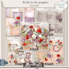 Walk in the Poppies by Moosscrap's Designs http://digital-crea.fr/shop/index.php?main_page=product_info&cPath=155_333&products_id=21148 http://www.oscraps.com/shop/Walk-in-the-poppies-full-pack.html