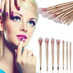 woman fashion New Professional Makeup Brushes Blending Contour Face Blush Foundation Powder Eyeshadow Makeup Brush Set M03427 ** View the item in details on AliExpress website by clicking the image