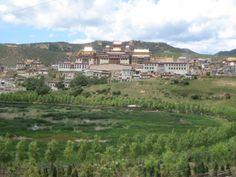 Tibetan Monastery | Tibetan monastery in the mountains