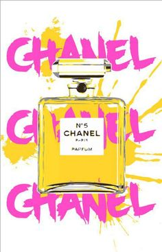 Pop Art - Chanel Hot pink & Yellow by www.aya.se