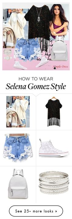 """Simple Dress #16"" by alien-official on Polyvore featuring Converse, Lucky Brand, Charlotte Russe and Kate Spade"