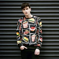 Criminal Damage fast food sweater at Topman