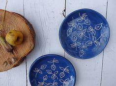Keramický tanierik dezertný modrotlačový