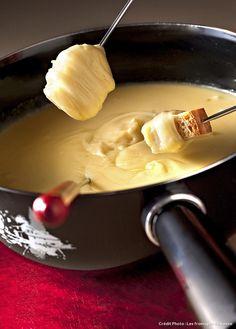 La fondue moitié-moitié.