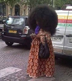 World's Largest Afro at 4ft 4in (132cm).  Wow.