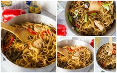One pot Quick and Easy Chicken Lo Mein