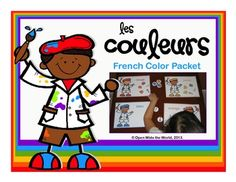 This bright, artist-themed FRENCH colors packet includes practice, activities, a game, and a bonus FREEBIE; everything you need for teaching 11 colors: red, orange, yellow, green, blue, purple, brown, black, white, pink, and gray. ($)