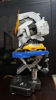 GSM 1/24 Tansformable Zeta Gundam Head Display + Full LED Function - Gundam Kits…