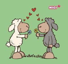 Cartoon Drawings, Animal Drawings, Cute Drawings, Funny Sheep, Cute Sheep, Barrel Of Monkeys, Best Friend Drawings, Sheep And Lamb, Baby Drawing