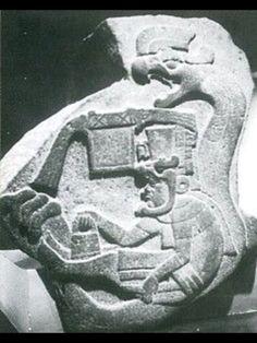 Quetzalcoatl in some sort of craft