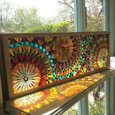Best Mosaic windows ideas on Faux Stained Glass, Stained Glass Designs, Mosaic Crafts, Stained Glass Panels, Mosaic Projects, Stained Glass Projects, Stained Glass Patterns, Art Crafts, Diy Art