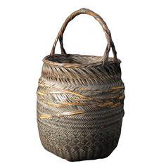 Handwoven Flower Basket from Japan