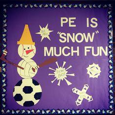 Elementary PE winter bulletin board