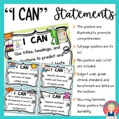 """Florida B.E.S.T. Standards """"I Can"""" Statements 