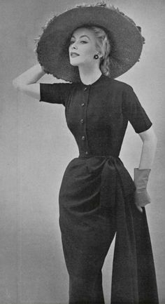 Christian Dior, created a new look for women in 1947, where women's clothing are transformed on the arm area where the shoulder area looks smaller and waists are cinched.