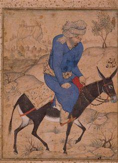 Mollah monté sur un âne   Paris, musée du Louvre-17e siècle Inde (période) - Empire moghol (1526-1857)