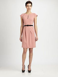 Moschino Cheap And Chic Belted Keyhole Dress