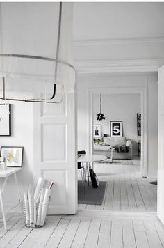 Photo Frida Ramstedt on Trendenser. Painted white wooden floors make this heavenly space.