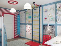 Детская комната дизайн, оформление детской комнаты, детская спортивный уголок