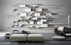 meuble salon design et bibliothèque